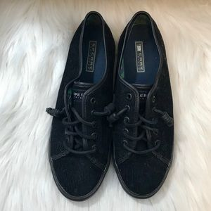 Sperry Shoes - Sperry Top-Sider Seacoast Corduroy Sneaker Black